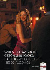 Фото: Когда средняя чешская девушка выглядит так, кому нужен алкоголь? (Budweiser)