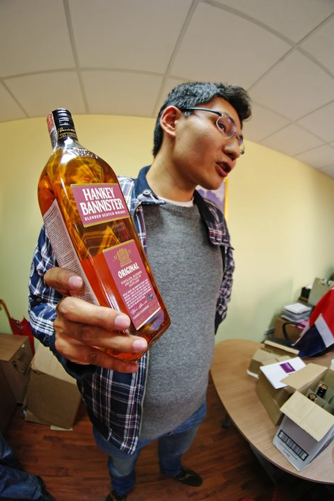Фото: Новая бутылка шотландского виски «Hankey Bannister».