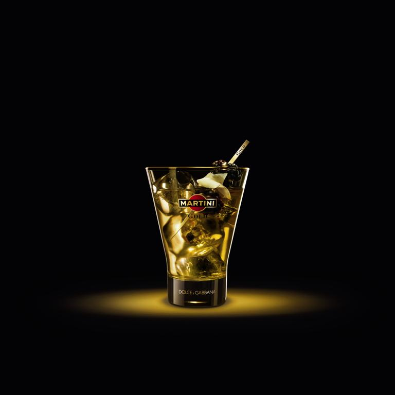 Фото: коктейль Martini Gold on Ice