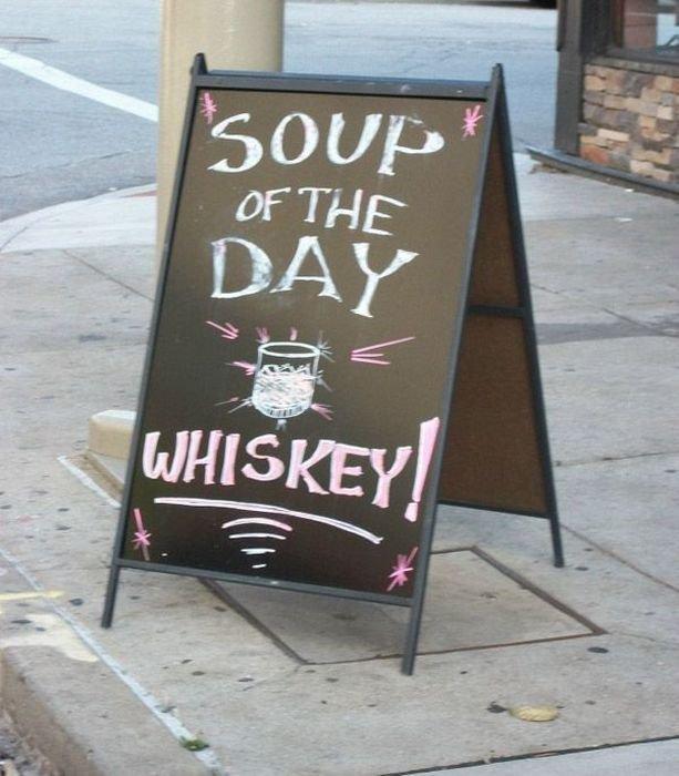 Фото: Суп дня — виски!