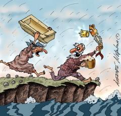 Фото: Карикатура Алексея Меринова из цикла «Неправильные сказки»,