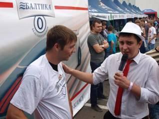 Фото: на фестивале дрифтинга при подержки ТМ «Балтика №0»