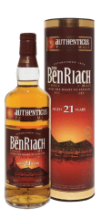 Фото: Виски «BenRiach Authenticus Peated 21 YO» серии «Peated BenRiach» от вискокурни «BenRiach».