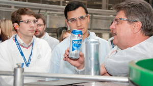 Фото: После встречи в администрации гости посетили черниговский пивоваренный завод.