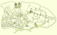 Фото: Карта «Киевского ботанического сада имени М. Гришко»