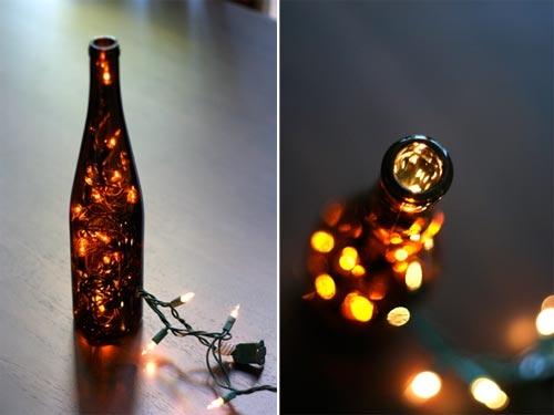 Фото: Немножко романтики из винной бутылки.