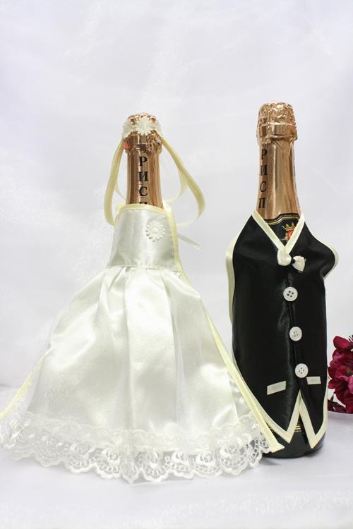 Фото: Чуть больше оригинальности на свадьбу: украшаем шампанское.