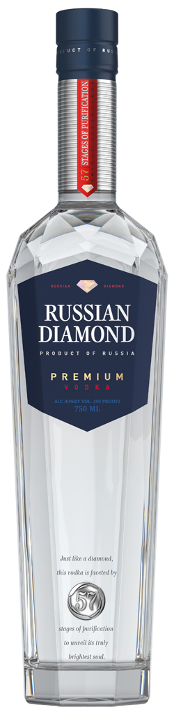 Фото: «Russian Diamond Premium» получила золотую медаль на конкурсе «International Review of Spirits Competition».