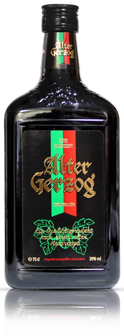Фото: Травяной ликер «Alter Gerzog» крепостью 30%.