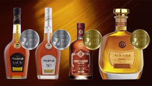 Фото: Коньяки «Таврия» завоевывают 4 награды на «World Spirits Competition 2013».