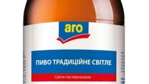 Фото: Privat label от «Carlsberg Ukraine» — «Традиційне Світле» торговой марки «Aro».