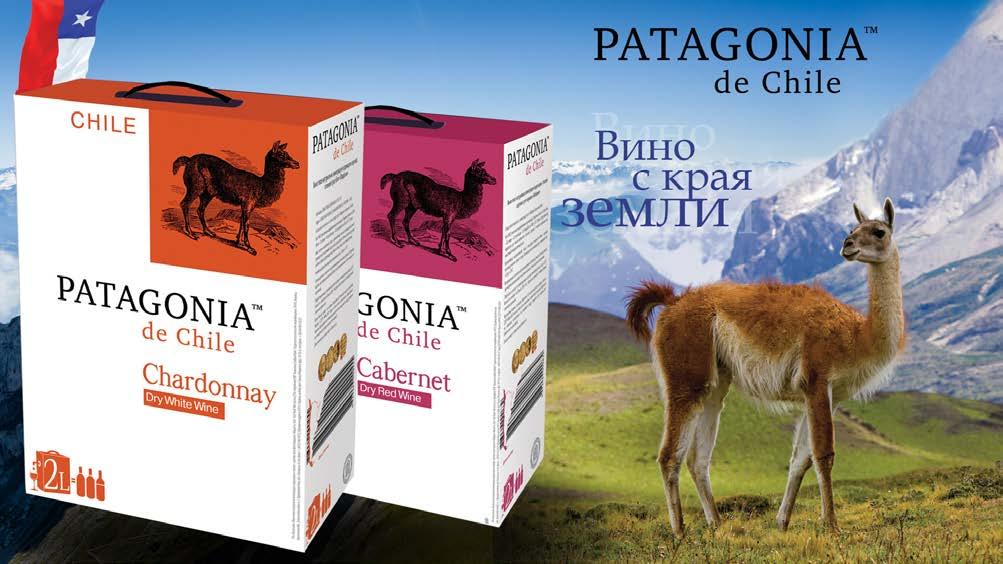 Фото: Вино «Patagonia de Chile» в картонной упаковке.