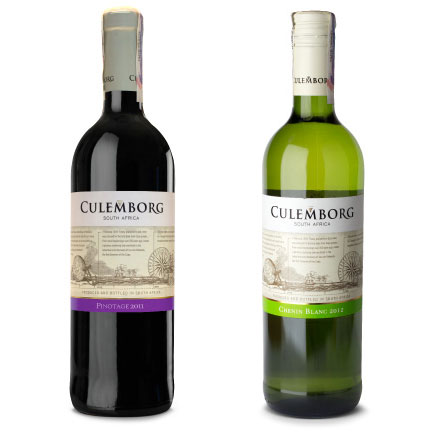 Фото: Вино «Culemborg Pinotage» и «Culemborg Chenin Blanc».