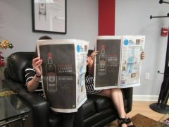 Фото: Реклама «Sobieski Vodka» в прессе.