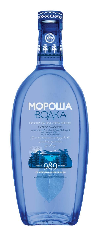 Фото: «Мороша на воде озера Синевир» — первая в Украине водка на воде карпатского озера.