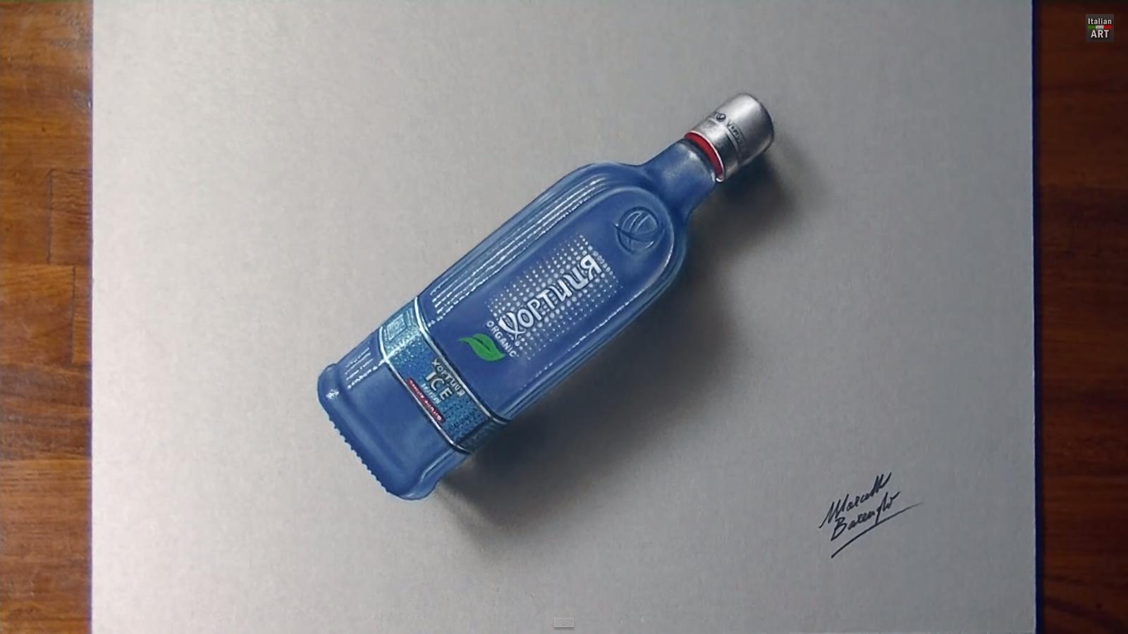 Фото: Водочный фотореализм — «Хортиця ICE» как объект современного искусства.