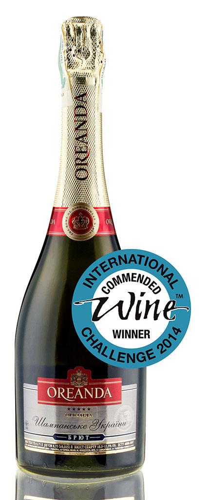 Фото: «Oreanda Брют» оказалось единственным отечественным шампанским, удостоенным особого знака качества Commended Winner.