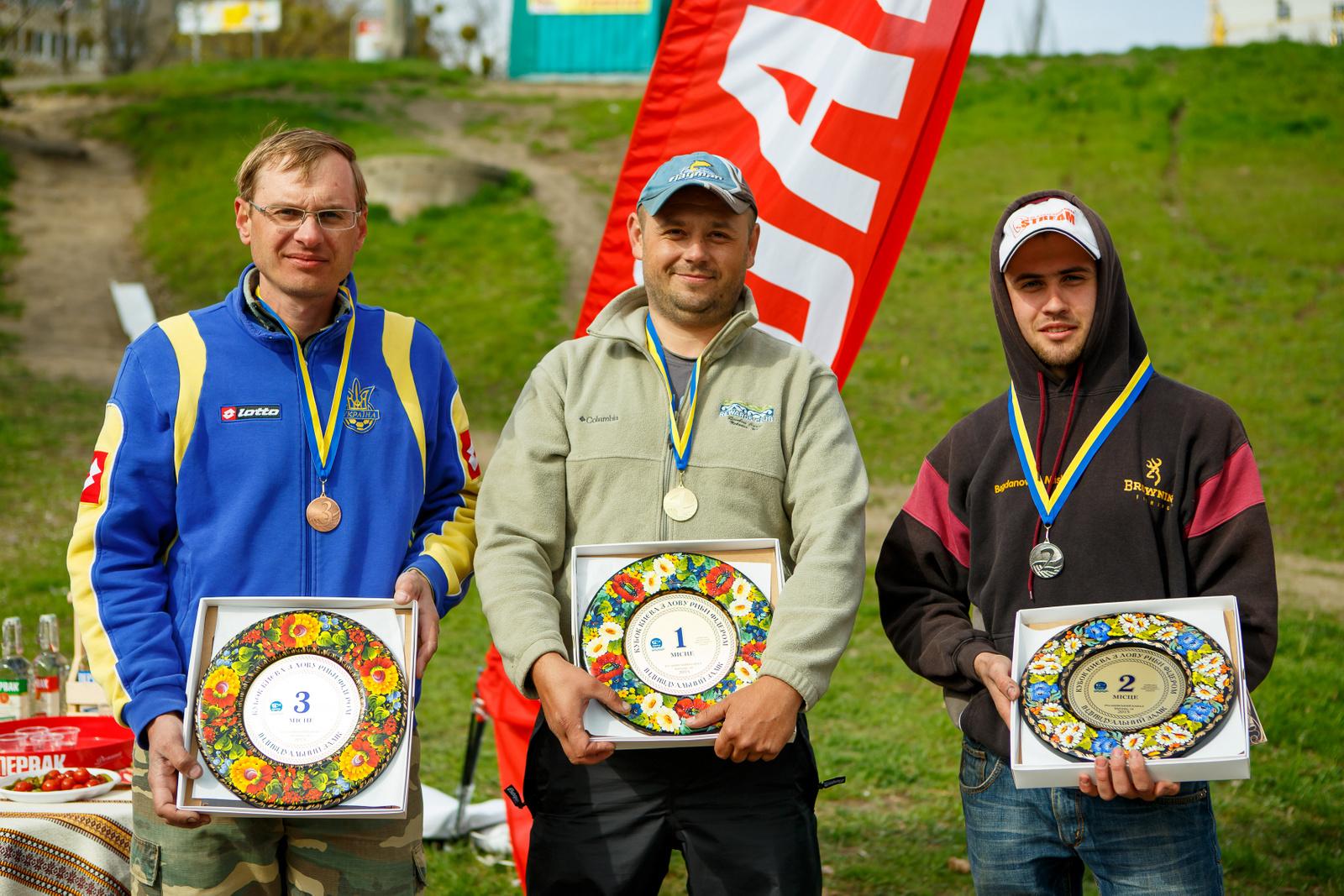 Фото: Призеры «Первак-Кубка Киева» по рыбной ловле на фидер.