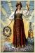 Плакат: Пиво Калинкинъ (девушка на земном шаре)