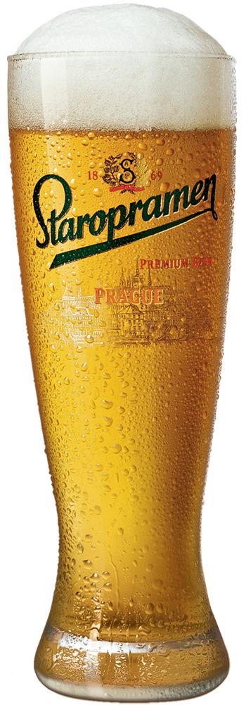 Фото: бокал пива Staropramen