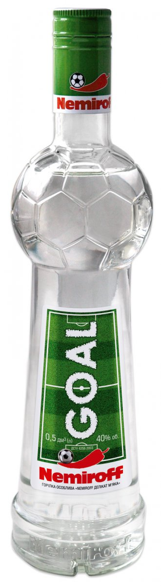 Фото: «Nemiroff Goal» — водочный сувенир для футбольных фанатов.
