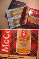 Фото: Презервативы с запахом виски (Whisky flavoured condoms).