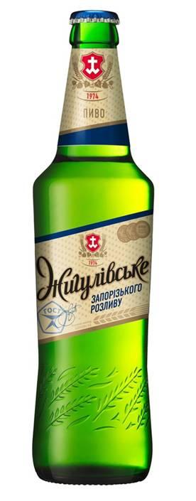 Фото: Бутылка пива «Жигулевского Запорожского Разлива».