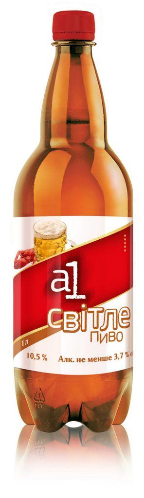 Фото: Пиво «А1 Светлое» — privat label торговой сети «Абсолют».