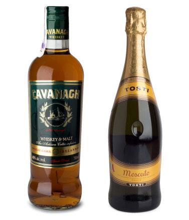 Фото: Виски «Cavanagh» и шампанское «Tosti Moscato»