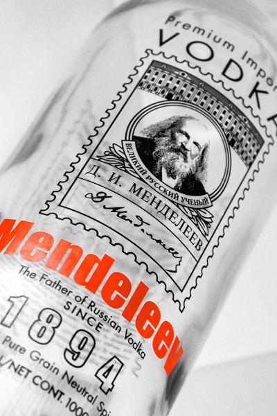 Фото: Водка «Mendeleev», декорированная для «Луга-Нова».