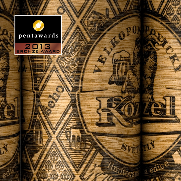 Фото: Награда «Pentawards» у специальной серии пива «Velkopopovicky Kozel Svetly».