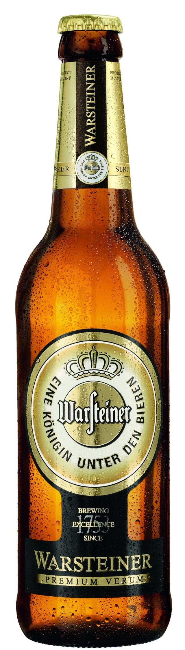 Фото: «Warsteiner Premium Verum» теперь и в стеклянной бутылке.