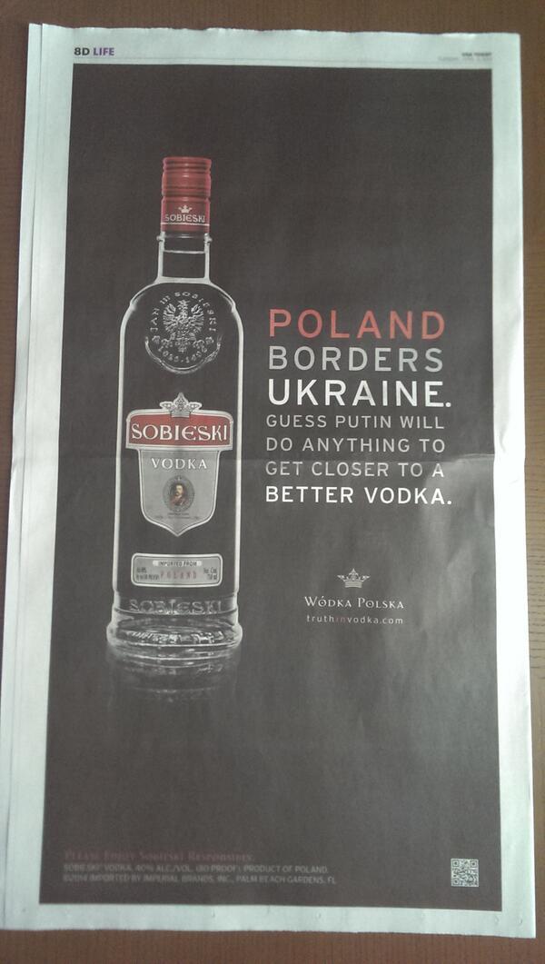 Фото: «Sobieski Vodka»: почему Путин напал на Украину.