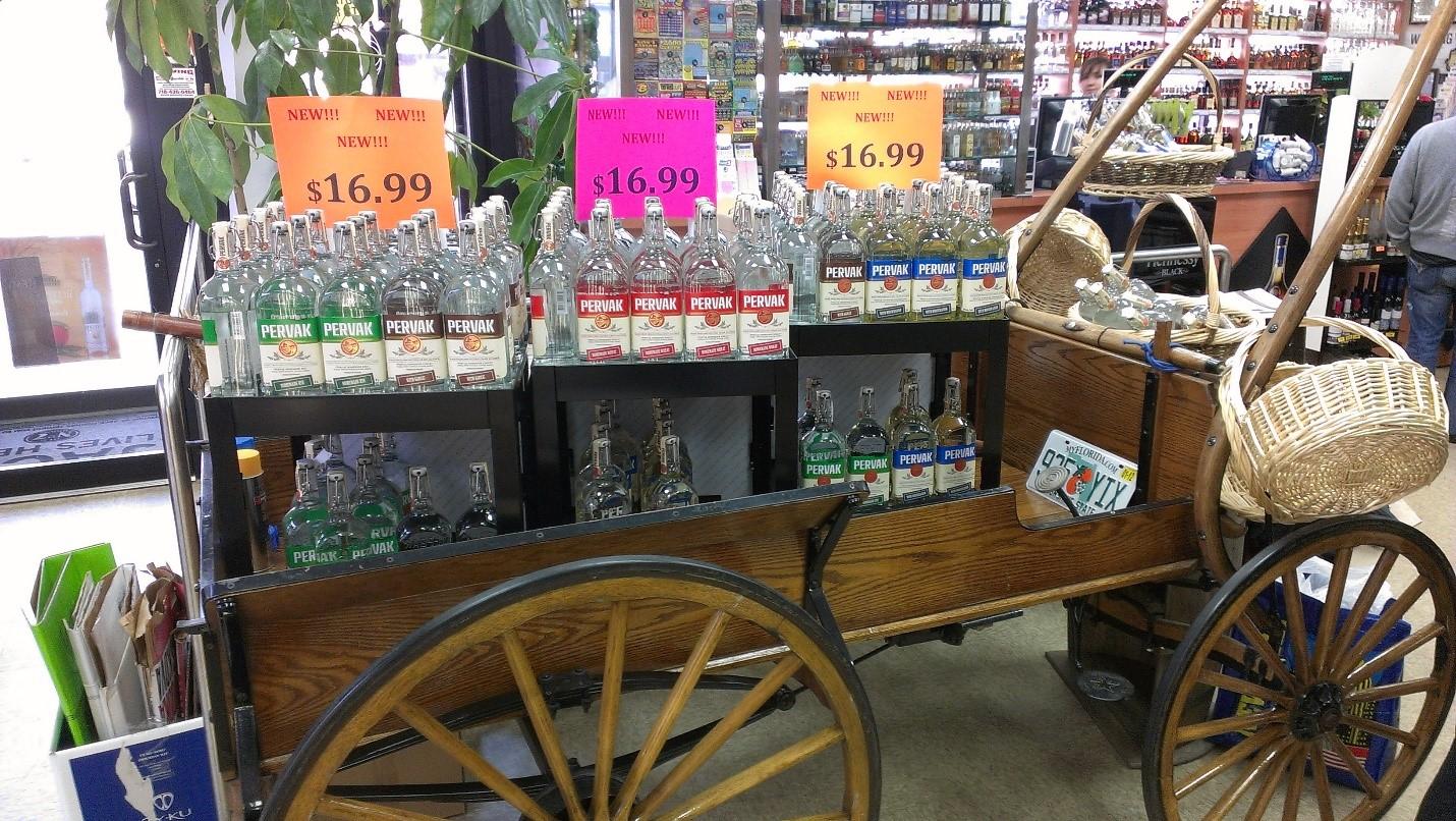Фото: «Первак» — украинская водка приходит в американские магазины.
