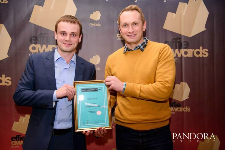 Фото: Пять наград «Effie Awards» в коллекции «Carlsberg Ukraine» (Андрей Отрощенко).
