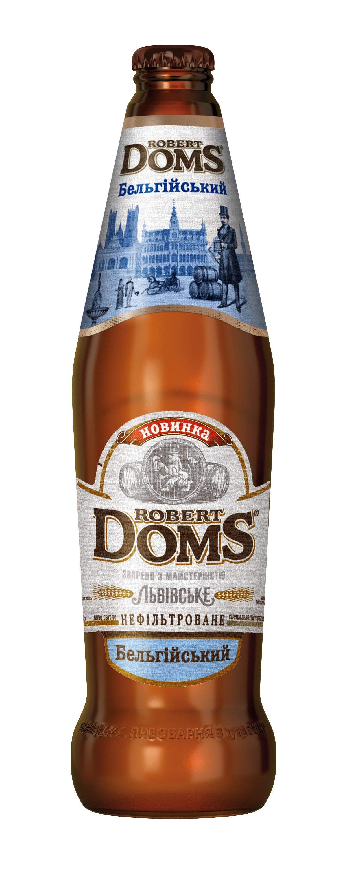 Фото: «Robert Doms Бельгійський» – новый сорт в линейке крафтового пива Robert Doms.